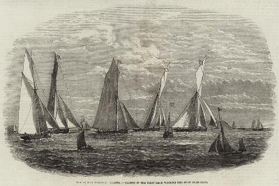 The Dublin Harbour Regatta, Yachts in the First Race Winding the First Flag-Boat--Giclee Print