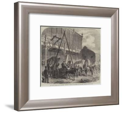 The Dublin International Exhibition, Delivery of Goods at the Foreign and Fine-Arts' Entrance--Framed Giclee Print