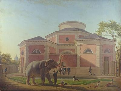 The Duc and Duchesse De Berry Visiting the Elephant at the Jardin Des Plantes in Paris, 1817-Jean Baptiste Berre-Giclee Print