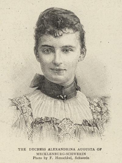 The Duchess Alexandrina Augusta of Mecklenburg-Schwerin--Giclee Print