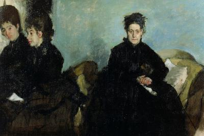 The Duchess De Montejasi and Her Daughters Elena and Camilla, 1876-Edgar Degas-Giclee Print