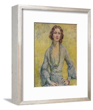 'The Duchess of Leinster', 1935-Mary McEvoy-Framed Giclee Print