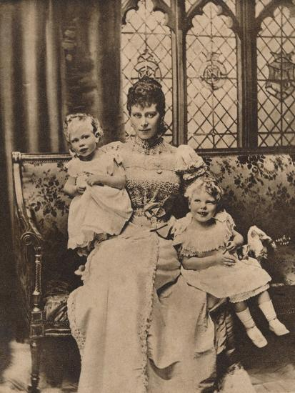 The Duchess of York with her two sons, Princes Edward and Albert, c1897 (1935)-Unknown-Photographic Print