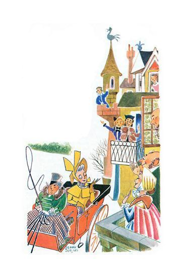 The Duchess Slides to Tea - Jack & Jill-Frank Dobias-Giclee Print