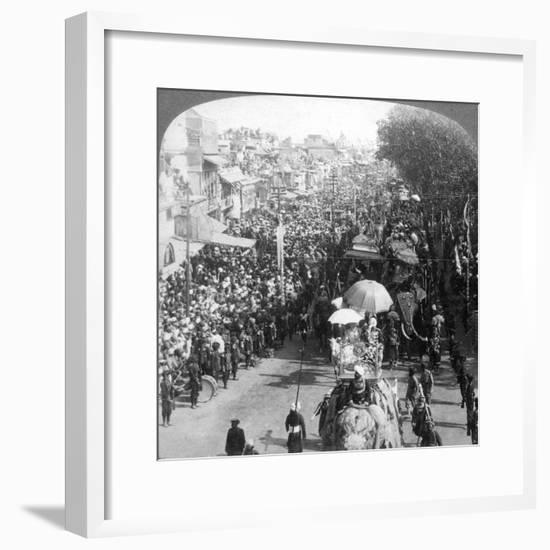 The Duke and Duchess of Connaught and in the Great Durbar Procession, Delhi, India, 1903-Underwood & Underwood-Framed Premium Giclee Print
