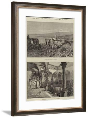 The Duke and Duchess of Connaught in Sicily-Thomas Harrington Wilson-Framed Giclee Print