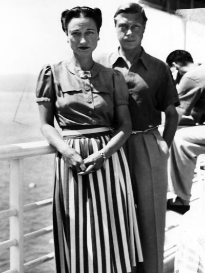 The Duke and Duchess of Windsor on Deck, C.1930-50--Photographic Print