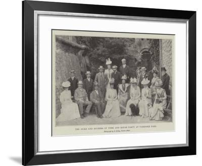 The Duke and Duchess of York and House Party at Ugbrooke Park--Framed Giclee Print