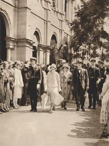 The Duke and Duchess of York and Queen Elizabeth Leaving a Reception in Brisbane, 1927
