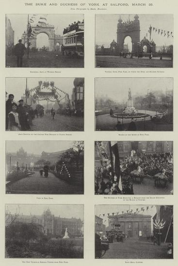 The Duke and Duchess of York at Salford, 25 March--Giclee Print