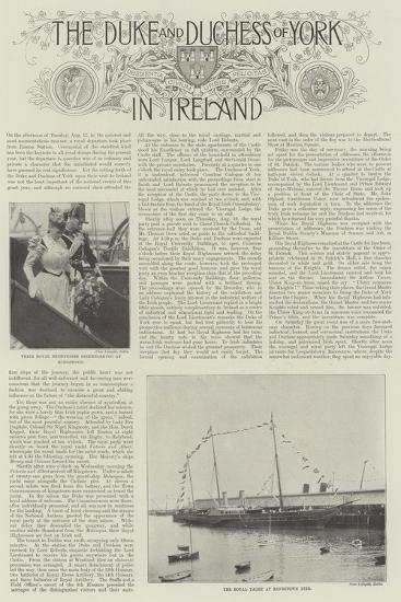 The Duke and Duchess of York in Ireland--Giclee Print