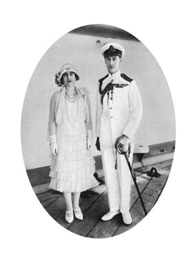 The Duke and Duchess of York on Board HMS 'Renown, Malta, 1927--Giclee Print