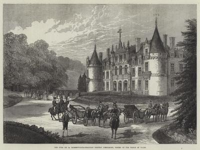The Duke De La Rochefoucauld-Bisaccia's Chateau D'Esclimont, Visited by the Prince of Wales--Giclee Print
