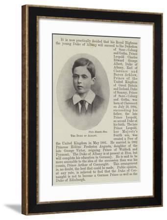 The Duke of Albany--Framed Giclee Print