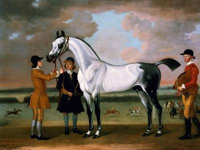The Duke of Bolton's 'starling' with a Jockey and Groom at Newmarket, 1734-Thomas Spencer-Giclee Print