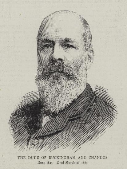 The Duke of Buckingham and Chandos--Giclee Print