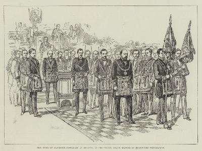 The Duke of Clarence Installed at Reading as Provincial Grand Master of Berkshire Freemasons--Giclee Print