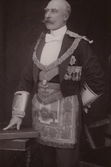 The Duke of Connaught as Grand Master of the Masonic United Grand Lodge of England--Photographic Print