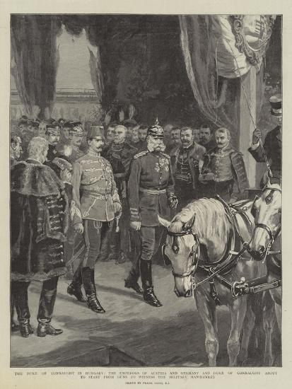The Duke of Connaught in Hungary-Frank Dadd-Giclee Print