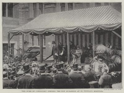 The Duke of Connaught Opening the New Buildings at St Thomas's Hospital--Giclee Print