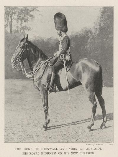 The Duke of Cornwall and York at Adelaide, His Royal Highness on His New Charger--Giclee Print