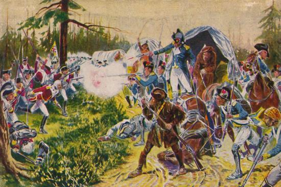 'The Duke of Cornwall's Light Infantry...at Brandywine', 1777, (1939)-Unknown-Giclee Print
