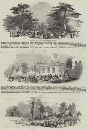 The Duke of Devonshire's Grand Fete to the Emperor of Russia, at Chiswick House--Giclee Print