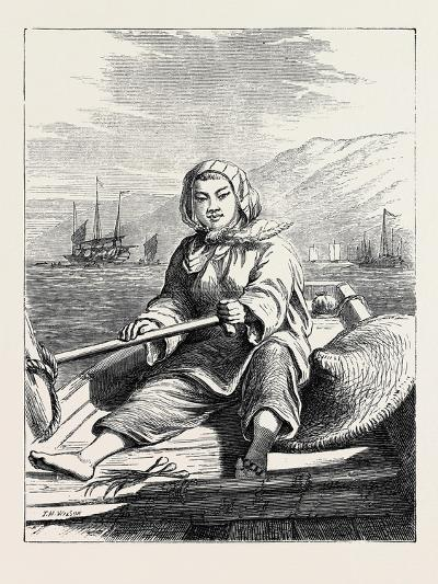 The Duke of Edinburgh's Collection at the South Kensington Museum, London: a Boat Girl at Canton--Giclee Print