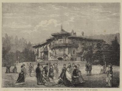 The Duke of Edinburgh's Visit to the Crimea, Seat of the Hereditary Grand Duke at Livadia--Giclee Print