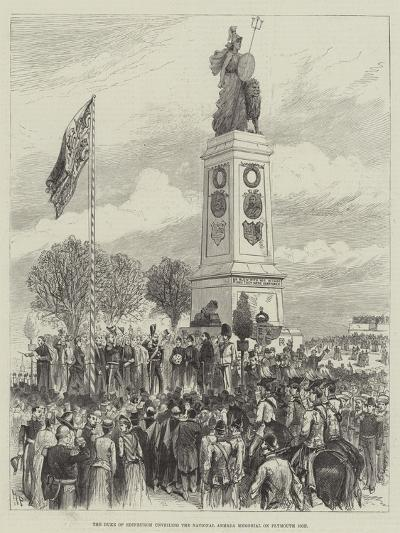 The Duke of Edinburgh Unveiling the National Armada Memorial on Plymouth Hoe-Melton Prior-Giclee Print