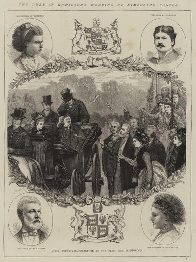 The Duke of Hamilton's Wedding at Kimbolton Castle--Giclee Print