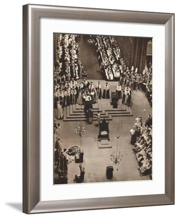 The Duke of Kent Pays Homage to the Newly Crowned King George Vi, 1937--Framed Photographic Print
