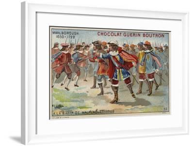The Duke of Marlborough at the Battle of Malplaquet--Framed Giclee Print