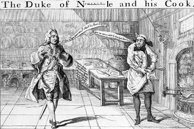 The Duke of Newcastle and His Cook, Circa 1745--Giclee Print