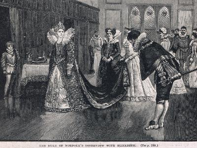 The Duke of Norfolks Interview with Elizabeth 1569-Henry Marriott Paget-Giclee Print