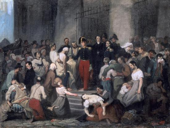 The Duke of Orleans ..During the Cholera Epidemic, C1830-Alfred Johannot-Giclee Print