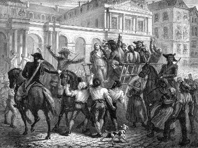 The Duke of Orleans on the Way to the Guillotine, Paris, 6th November 1793 (1882-188)-Renaud Renaud-Giclee Print