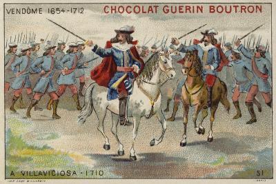 The Duke of Vendome at the Battle of Villaviciosa--Giclee Print