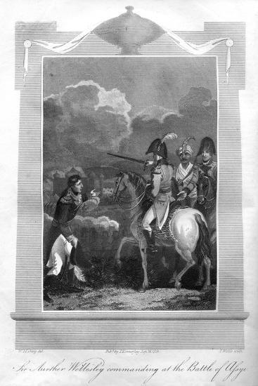 The Duke of Wellington Commanding at the Battle of Assaye, 1816-T Wallis-Giclee Print