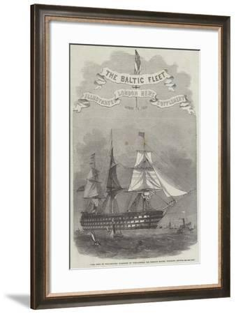 The Duke of Wellington, Flag-Ship of Vice-Admiral Sir Charles Napier, Weighing Anchor-Edwin Weedon-Framed Giclee Print