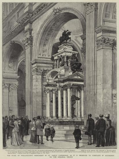 The Duke of Wellington's Monument in St Paul's Cathedral-Henry William Brewer-Giclee Print
