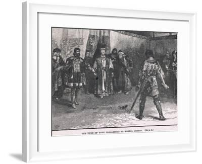 The Duke of York Challenged to Mortal Combat 1451-Henry Marriott Paget-Framed Giclee Print