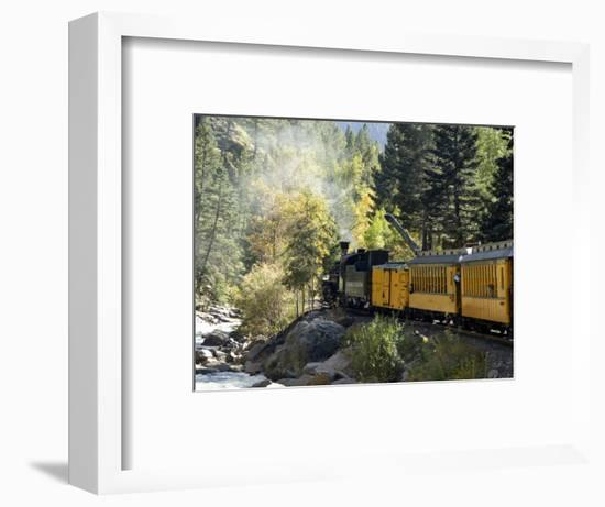 The Durango & Silverton Narrow Gauge Railroad, Colorado, USA-Cindy Miller Hopkins-Framed Photographic Print