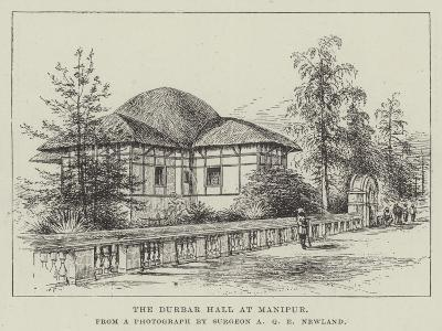 The Durbar Hall at Manipur--Giclee Print