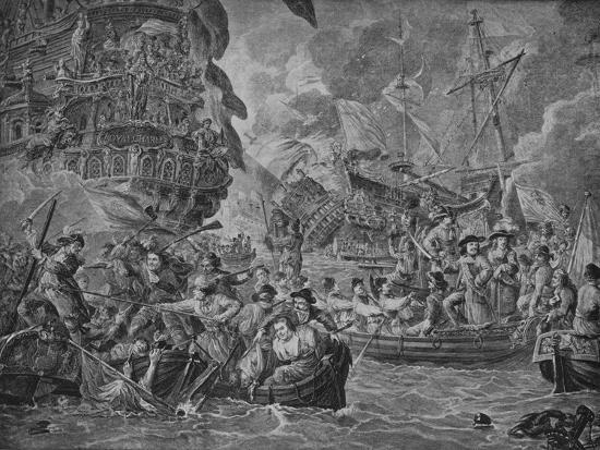 'The Dutch in the Medway', c1790-Dirk Langendijk-Giclee Print