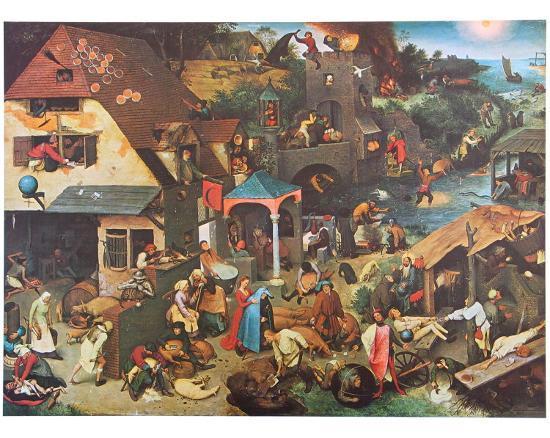 The Dutch Proverbs-Pieter Bruegel the Elder-Art Print