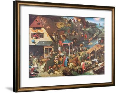 The Dutch Proverbs-Pieter Bruegel the Elder-Framed Art Print