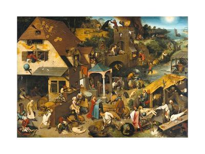 The Dutch Proverbs-Pieter Bruegel the Elder-Giclee Print
