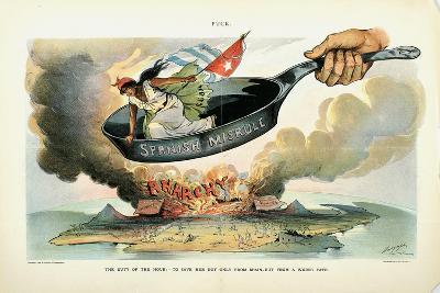 The Duty of the Hour: - to Save Her [Cuba] Not Only from Spain - But from a Worse Fate, 1898-Louis Dalrymple-Giclee Print