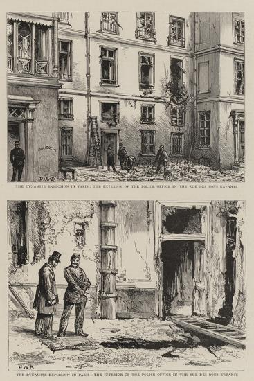 The Dynamite Explosion in Paris-Henry William Brewer-Giclee Print